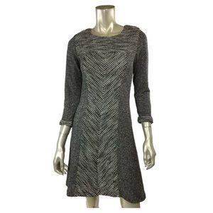 Sunday in Brooklyn Long-Sleeve Tweed Dress